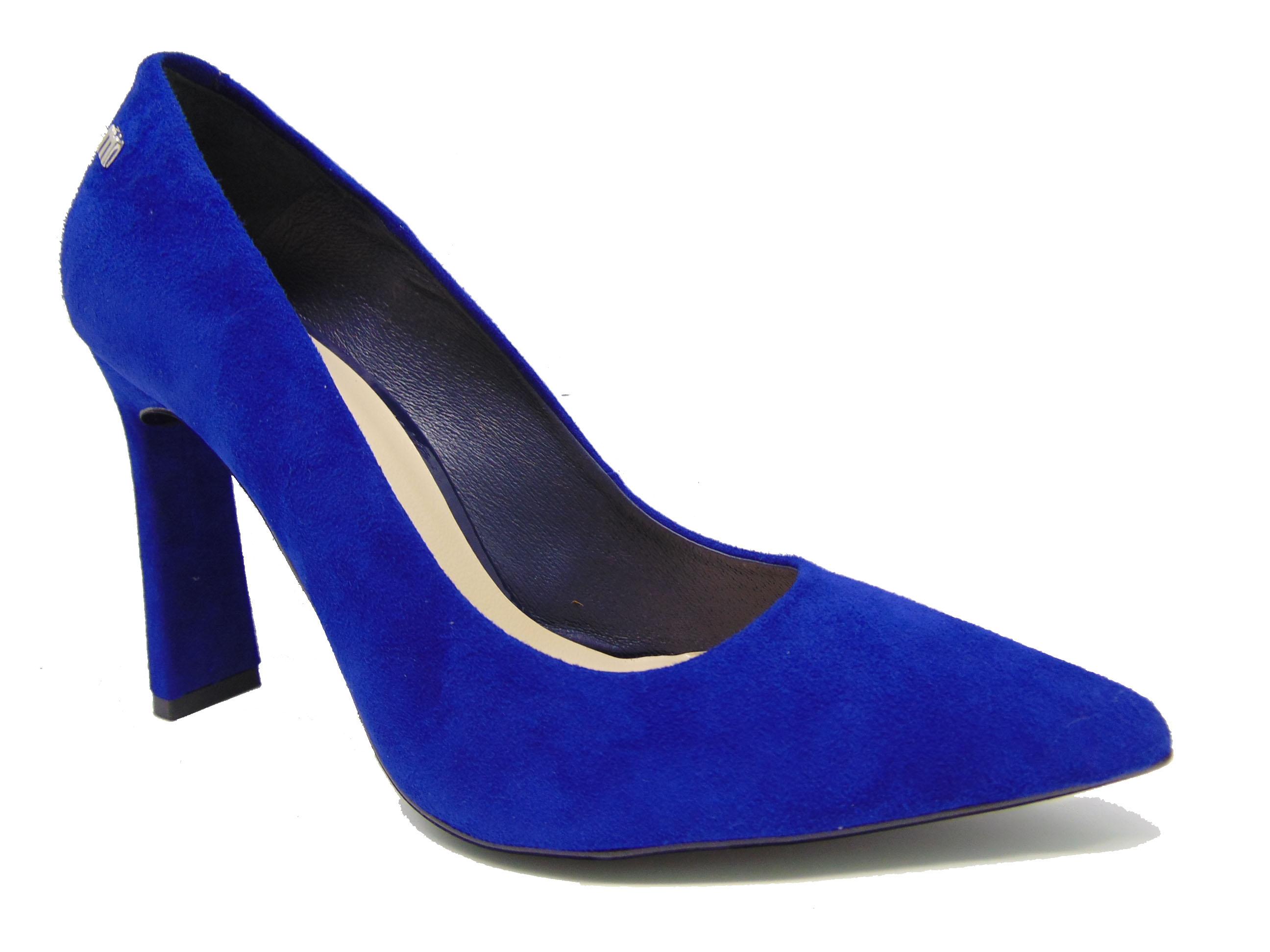 Czółenka Maccioni 594 niebieskie/szafirowe
