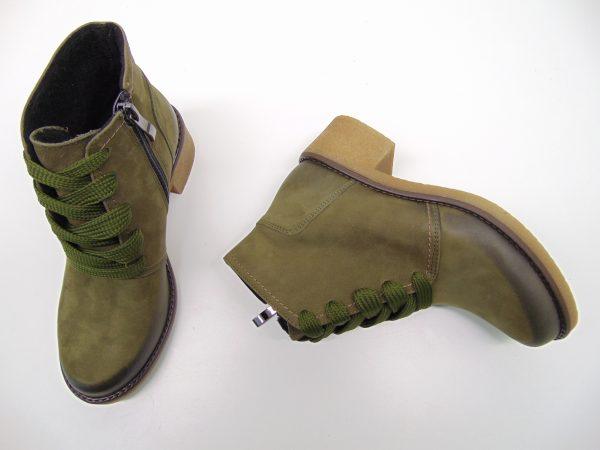 Botki GAMIS 3154 zielone/oliwkowe s. nubuk