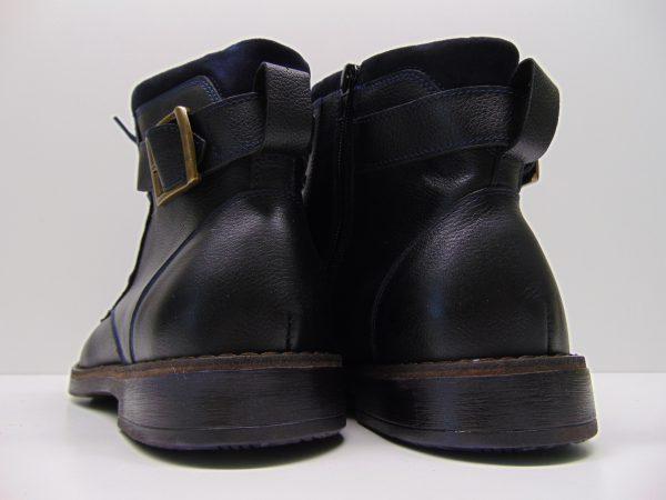 Botki męskie Nikopol 659 czarne lico groch