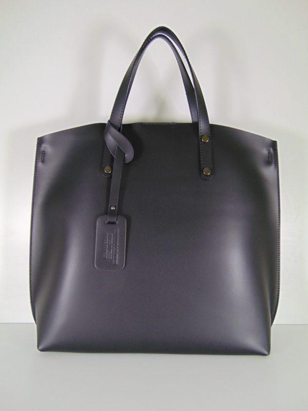 BORSE IN PELLE duża włoska torebka czarna