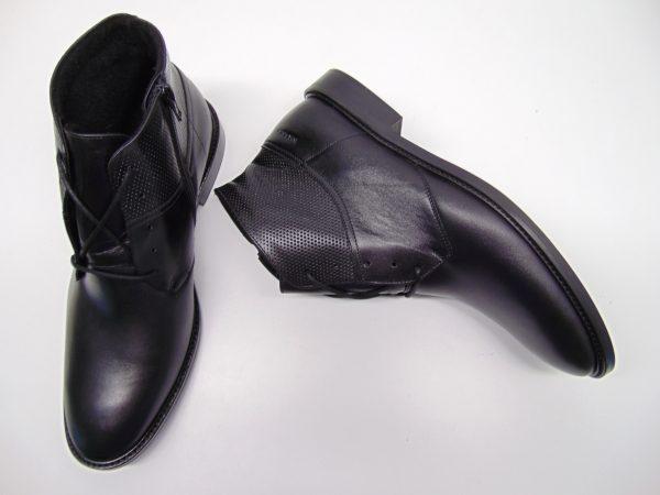 Trzewiki męskie Badura 5258-F czarne s.licowa