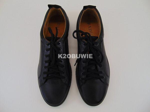 Półbuty męskie Badura 3133 czarne s. licowa