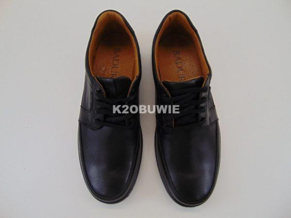 Półbuty męskie Badura 3205 czarne s. licowa