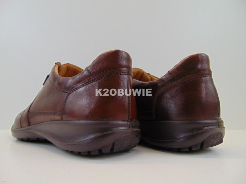Półbuty męskie Badura 3205 brązowe s. crust