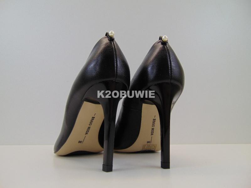 Czółenka Bravo Moda 1531 czarne s. licowa