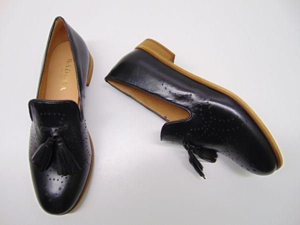 Mokasyny Badura 1502-69 czarne skóra licowa