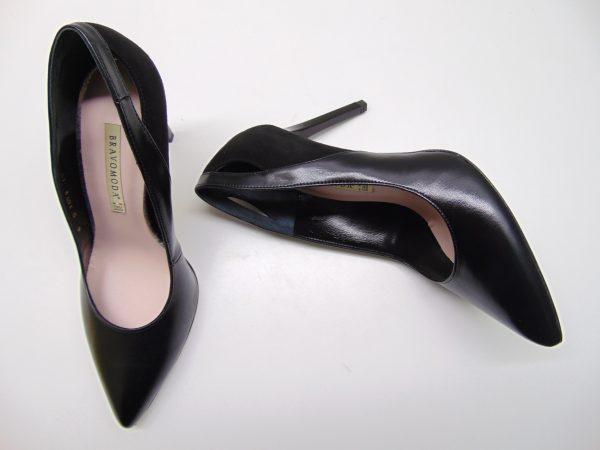 Czółenka Bravo Moda 1572 czarne lico+zamsz