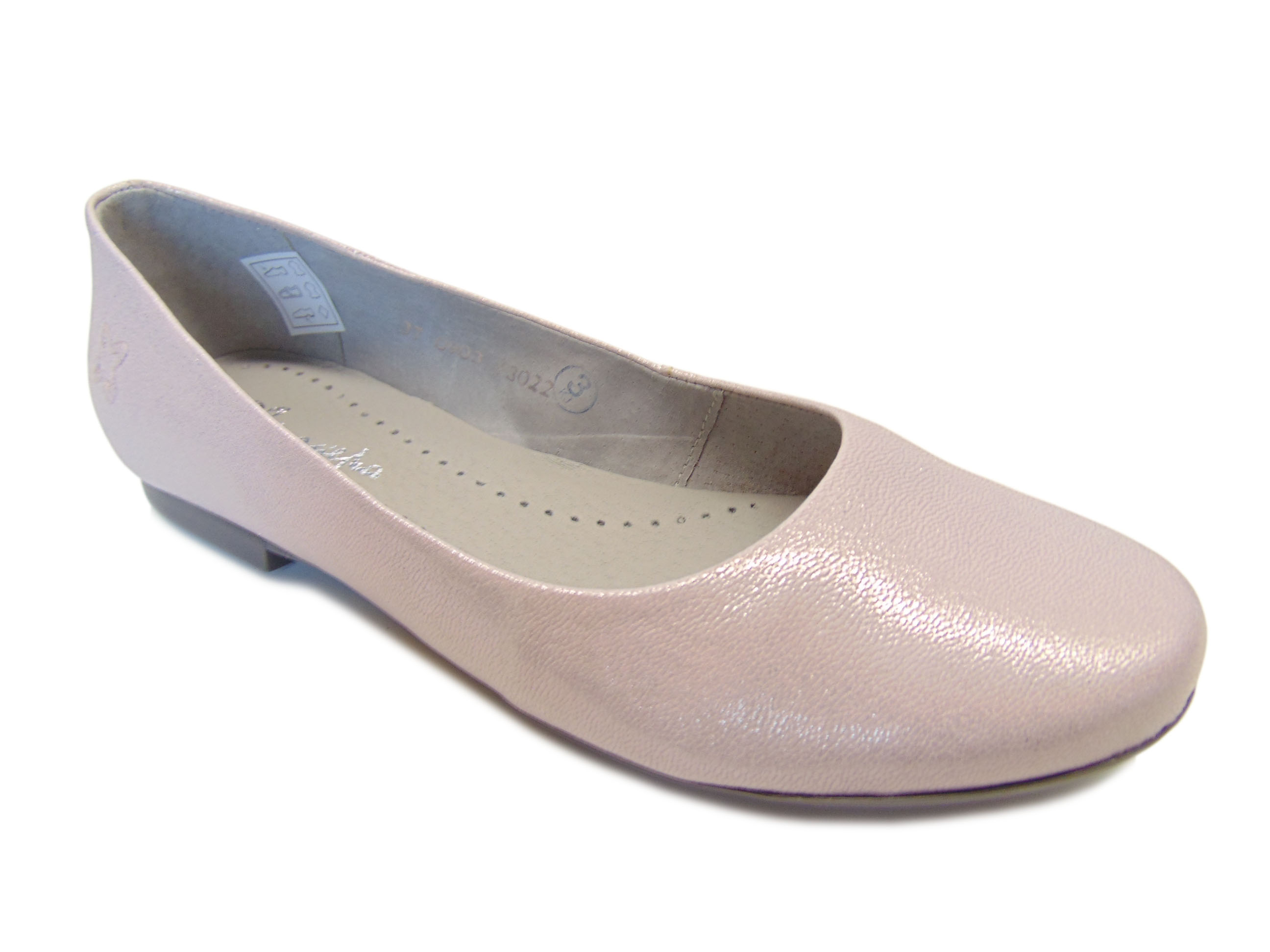 Maciejka 00903-42 baleriny róż metaliczny