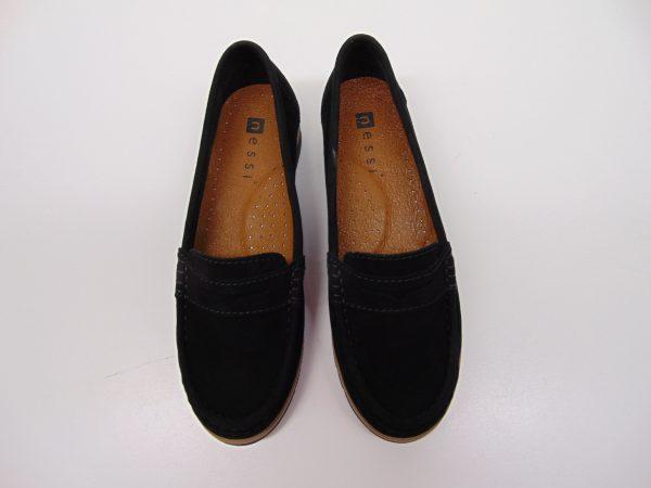 Nessi 18765-19 mokasyny czarne