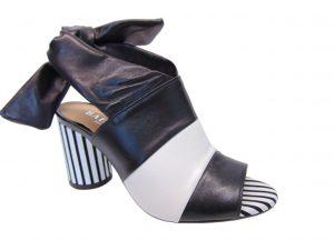Badura 7787-69 010 sandały czarno-białe