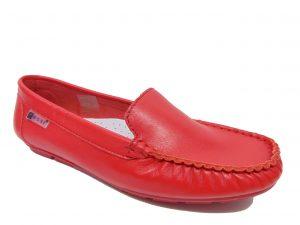 Nessi 17130-3 mokasyny/lordsy czerwone