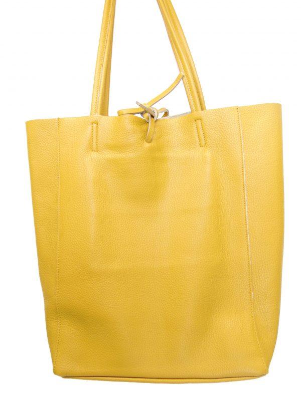 Skórzana żółta torebka