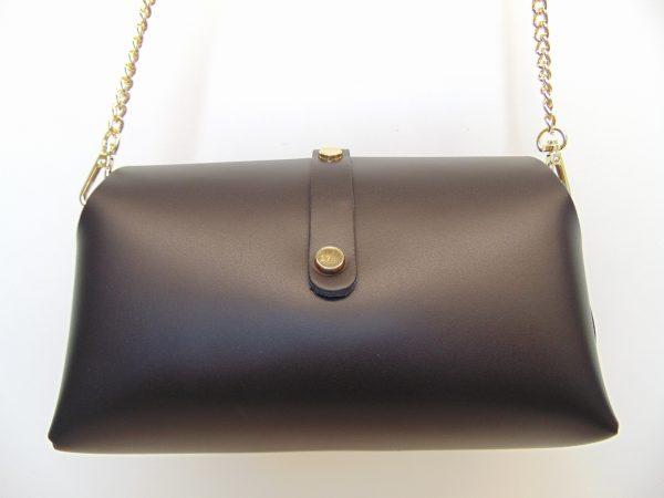 Skórzana elegancka torebka czarna
