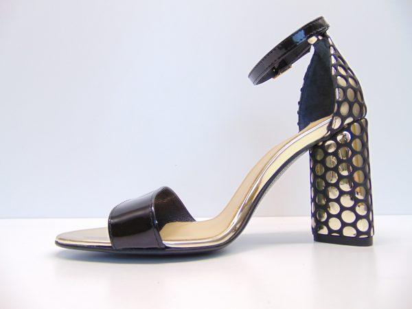Maccioni 240 czarno-złote sandały