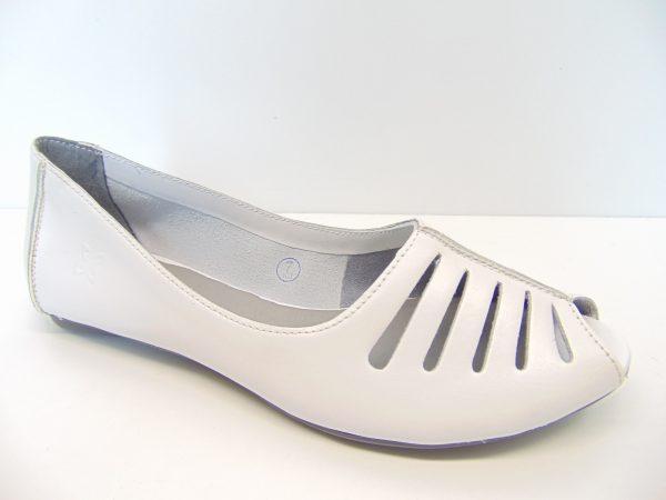 Maciejka 03497-11 baleriny białe