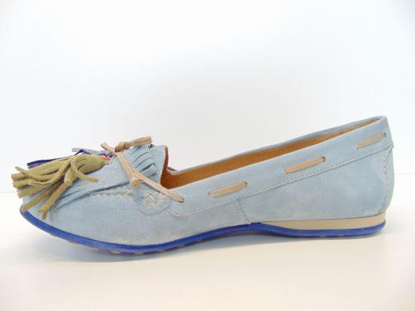 Maciejka 03544-35 mokasyny jasno niebieskie