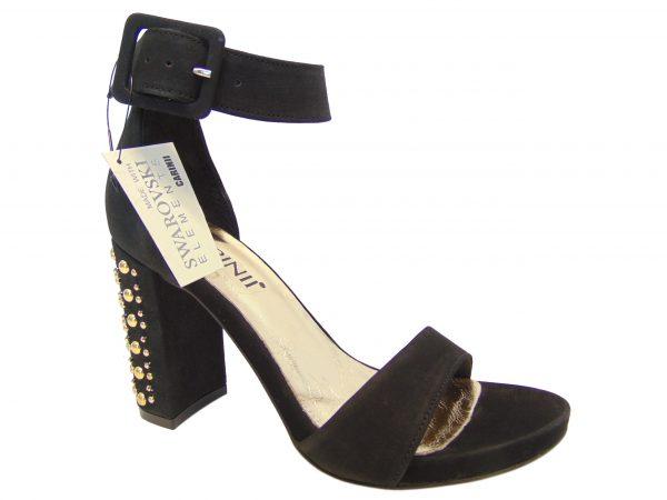 Carinii B4399-360 czarne sandały Swarovski