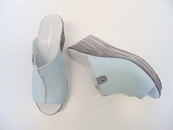 Klapki Gino Fabiani Rammit 1250 L-88 błękitne