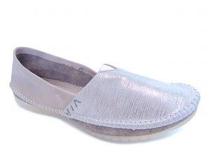 Maciejka 01930-03 balerinki popielato-srebrne