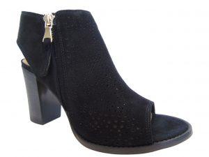 Sandały botki Nessi 18351-19 czarne ażurowe