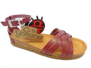 Yokono 058 hiszpańskie sandały bordowe