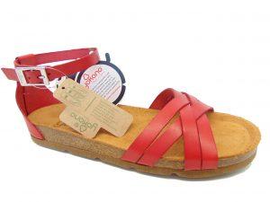 Yokono 058 hiszpańskie sandały czerwone