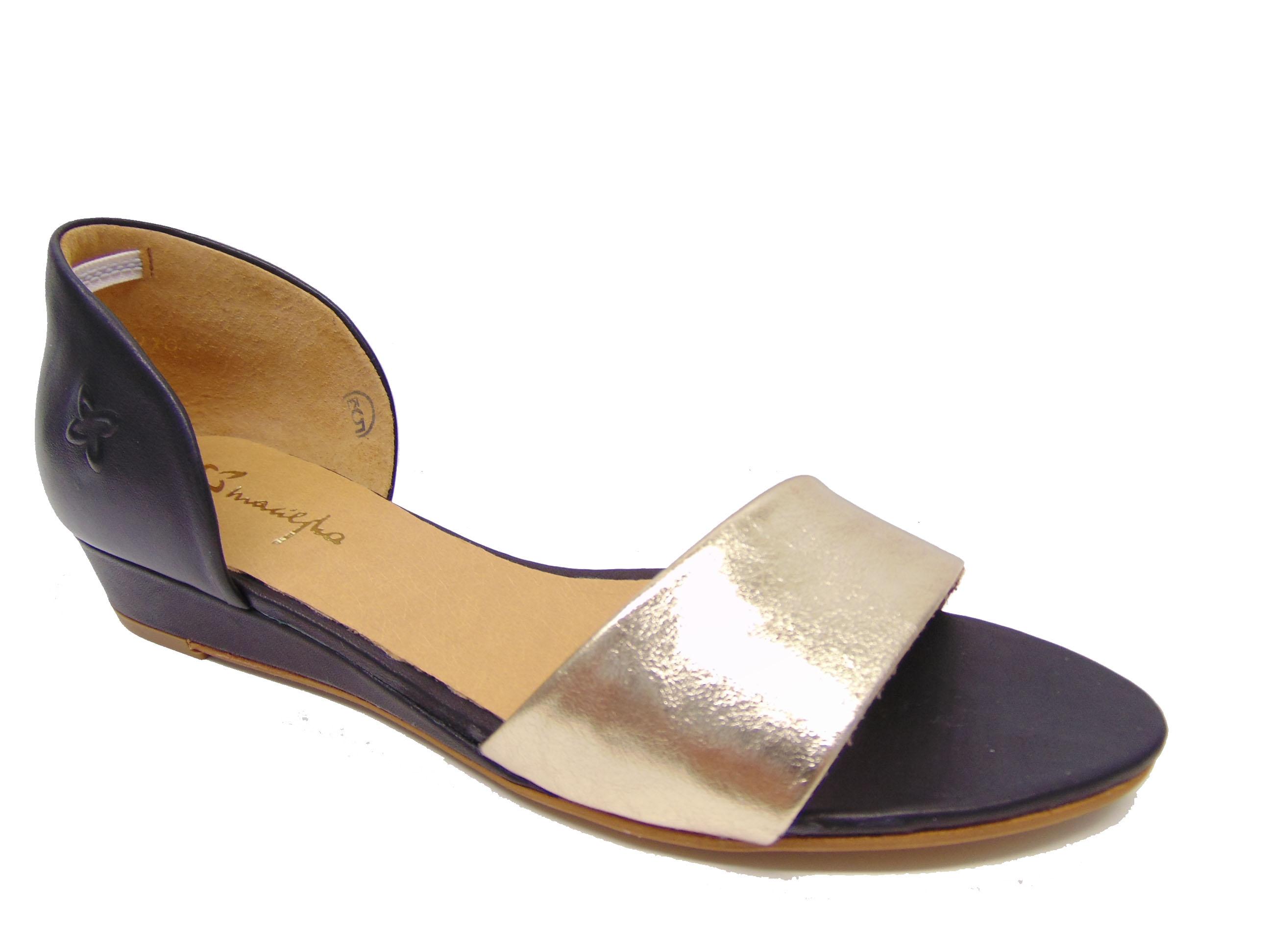 1f9ea6c7e9606 Maciejka 01971-46 sandały czarne+złoto