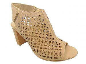 Stagórs 1097-05 sandały ażurowe beż zamsz