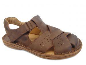 Sandały Vinci Nikopol 402-28 brązowe skórzane