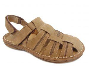 Sandały Vinci Nikopol 189-31 brązowe skórzane