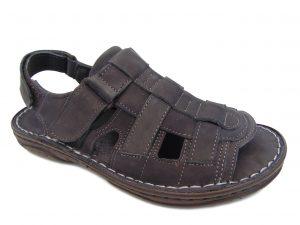 Sandały Vinci Nikopol 114-63 czarne skórzane