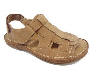 Sandały Vinci Nikopol 114-31 brązowe skórzane