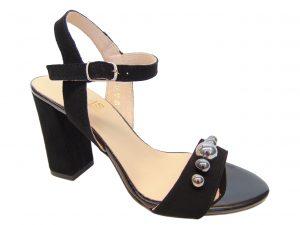 Gamis 3397 skórzane czarne sandały