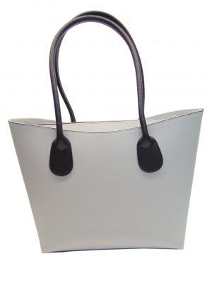 Skórzana szara torebka