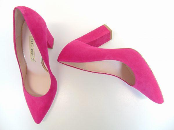 Czółenka Bravo Moda 1539 pink zamsz