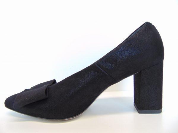 Czółenka Bravo Moda 1584 czarna lamina
