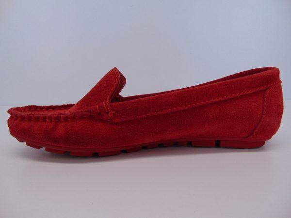 Nessi 17130-193 mokasyny/lordsy czerwone