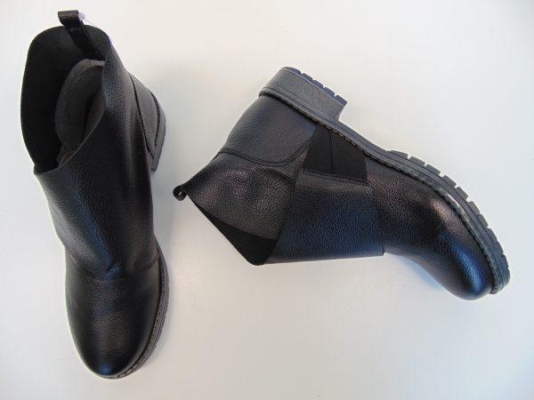 Botki Maciejka 03921-01 skórzane czarne