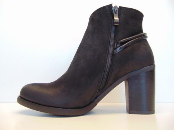 Skórzane botki Gamis 3508 czarne