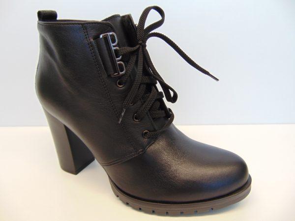 Skórzane botki Gamis 3535 czarne