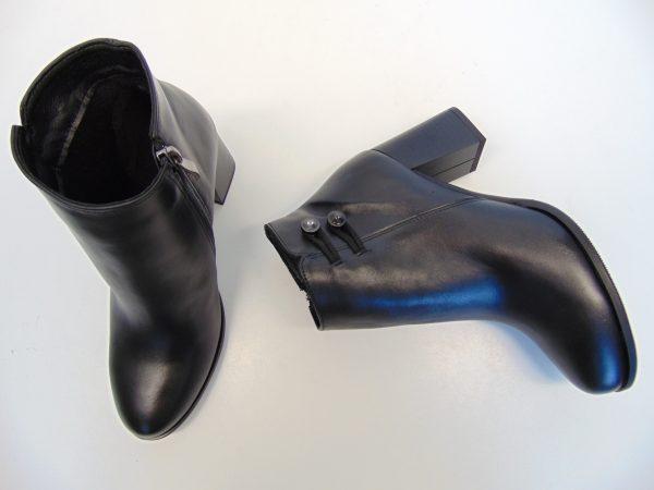 Skórzane botki Gamis 3501 czarne