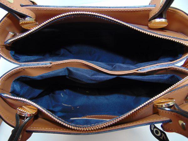 Vera Pelle skórzana brązowa torebka