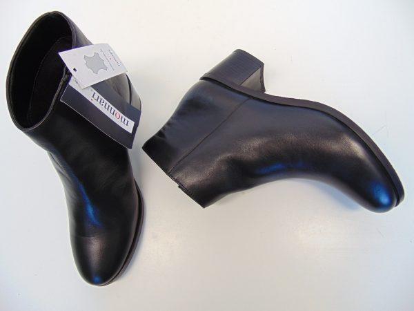Monnari 0670-020 skórzane czarne botki