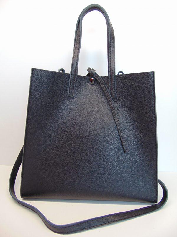 Skórzana czarna torebka