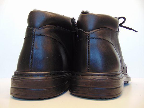 Skórzane trzewiki męskie Vinci 303 01 czarne