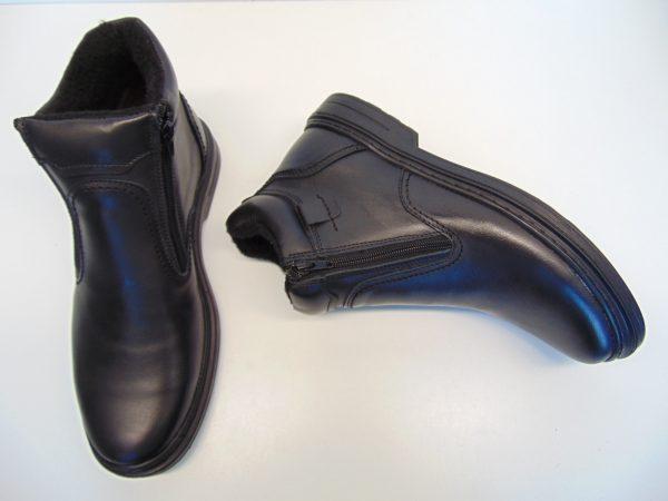 Skórzane trzewiki męskie Vinci 309-01 czarne