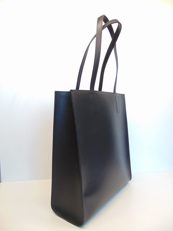 Borse in Pelle skórzana czarna torebka