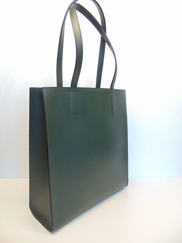 Borse in Pelle skórzana zielona torebka