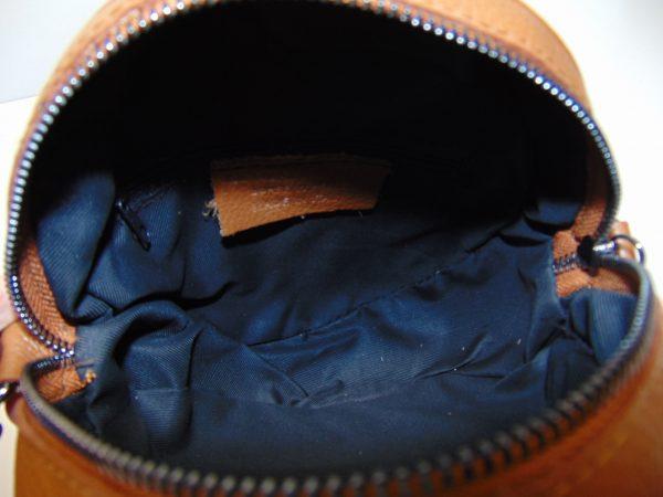 Borse in Pelle skórzana torebka listonoszka brązowa
