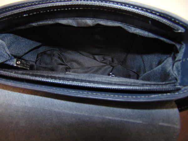 Vera Pelle skórzana torebka listonoszka szara